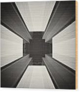 Analog Photography - Berlin Abstract Architecture Wood Print
