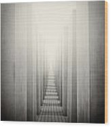 Analog Photography - Berlin Holocaust Memorial Wood Print