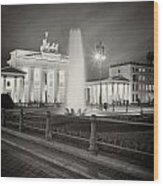 Analog Photography - Berlin Pariser Platz Wood Print