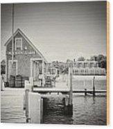 Analog Photography - Martha's Vineyard Black Dog Wharf Wood Print