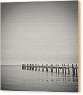 Analog Photography - Martha's Vineyard Horizon Wood Print
