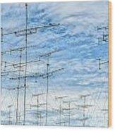 Analog Television Aerials Wood Print