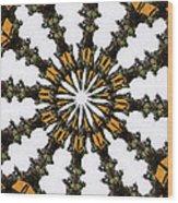 Ananasi Mandala Wood Print