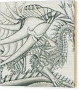 Anare'il The Chaos Dragon Wood Print