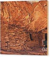 Anasazi  Cliff Dwelling Wood Print