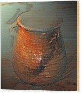 Anasazi Cooking Pot Wood Print