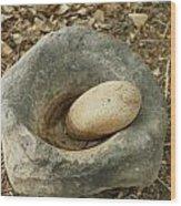 Anasazi Grinding Bowl Wood Print
