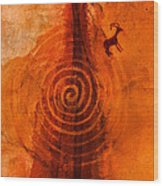 Anasazi Spirals  Wood Print