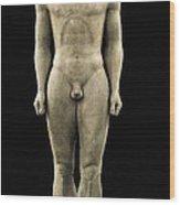 Anavyssos Kouros. Ca.  520 Bc. Archaic Wood Print by Everett