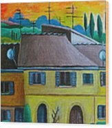 Ancient Volterra Wired Wood Print