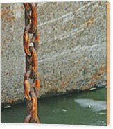 Anchor Chain Wood Print