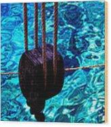 Anchor In Santorini Island Greece  Wood Print