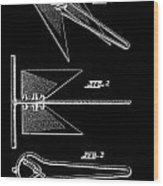 Anchor Patent Wood Print