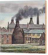 Anchor Road Pot Works Wood Print