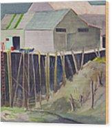 Anchorage Dock 1980s Wood Print