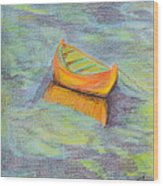 Anchored In The Shallows Wood Print