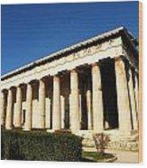 Ancient Agora Temple Of Hephaestus 3 Wood Print