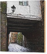 Ancient Alley In Tui Wood Print