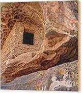 Ancient Anasazi Honeycomb Granary Ruin  Wood Print