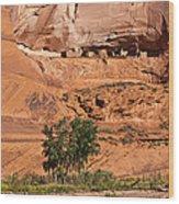 Ancient Anasazi Pueblo Canyon Dechelly Wood Print