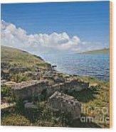 Ancient Archaeological Site On The Coast Of Crimea Ukraine Wood Print