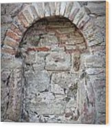Ancient Bricked Up Window  Wood Print