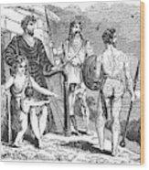Ancient Briton, Caledonian And Irish Wood Print