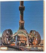 Ancient Cannon From Ww2 Wood Print
