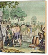 Ancient Celts Or Gauls Sacrificing Wood Print