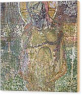 Ancient Christ Icon Wood Print