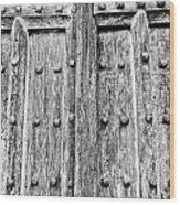 Ancient Church Door Wood Print