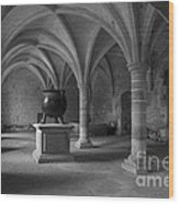 Ancient Cloisters. Wood Print