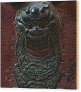 Ancient Door Knocker Wood Print