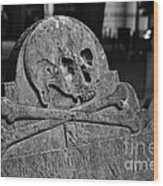 Ancient Gravestone Wood Print