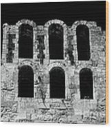Ancient Greek Ruins Wood Print by John Rizzuto