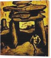 Ancient Grunge Wood Print