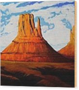 Ancient Land Monument Valley Wood Print