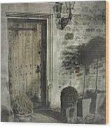 Ancient Medieval Door Wood Print