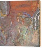 Ancient Orange Wood Print