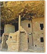 Ancient Pueblo Dwelling Ruins Wood Print