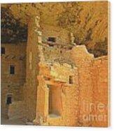 Ancient Pueblo Dwelling Ruins Two Wood Print