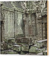 Ancient Ruins Cambodia Wood Print