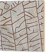 Ancient Runestone Wood Print