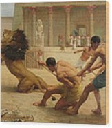 Ancient Sport Wood Print