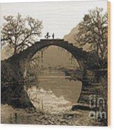 Ancient Stone Bridge Wood Print