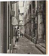 Ancient Street Wood Print