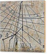 Ancient Sundial Wood Print