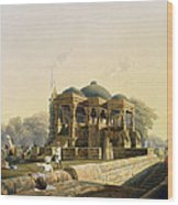 Ancient Temple At Hulwud, From Volume I Wood Print