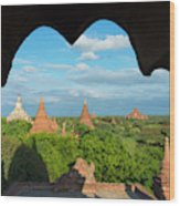 Ancient Temples And Pagodas, Bagan Wood Print