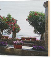 Ancient Town Of Ravello Italy Wood Print